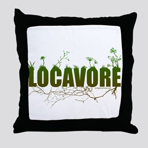 Locavore buy locally realfood Throw Pillow