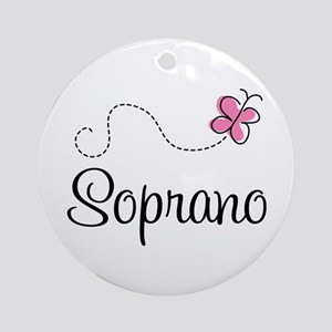 Cute Butterfly Soprano Ornament (Round)