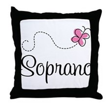 Cute Butterfly Soprano Throw Pillow