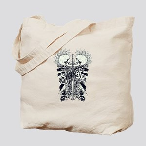 Savage Skulls and Sword Tote Bag