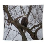 Winter Maple Island Bald Eagle Wall Tapestry
