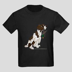 Brittany Pup Kids Dark T-Shirt