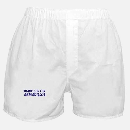 Thank God For Armadillos Boxer Shorts
