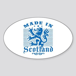 Made In Scotland Sticker (Oval)