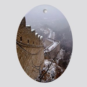Great Wall China Oval Ornament