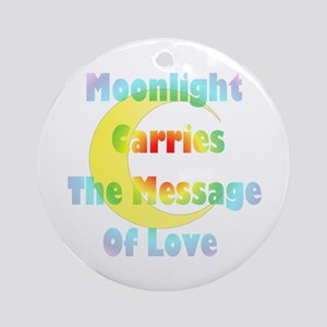 Moon Message Ornament (Round)
