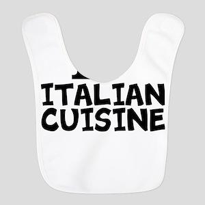 I Love Italian Cuisine Polyester Baby Bib