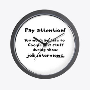 Pay attention funny teacher Wall Clock