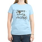 Mommy. Needs. Coffee (with stains) Women's Light T
