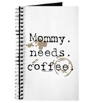 Mommy. Needs. Coffee (with stains) Journal