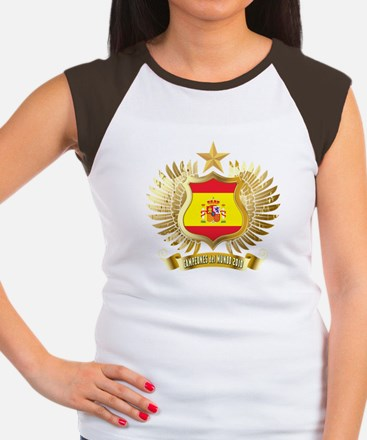 Spain world cup champions Women's Cap Sleeve T-Shi