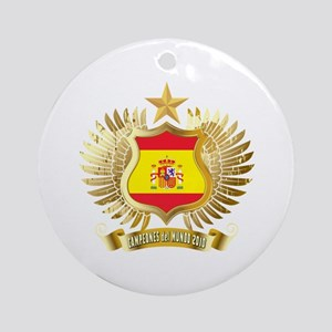 Spain world cup champions Ornament (Round)