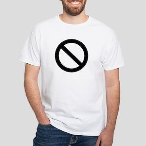 Not saying No, White T-Shirt