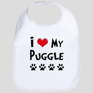 I Love My Puggle Bib