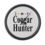 Cougar Hunter Large Wall Clock