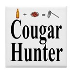 Cougar Hunter Tile Coaster