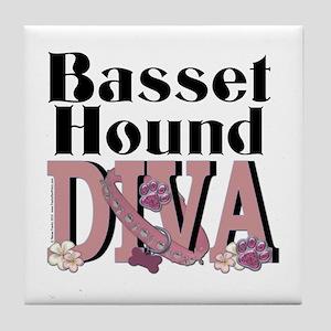 Basset Hound DIVA Tile Coaster