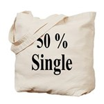 50% Single Tote Bag