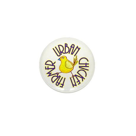 Urban Chicken Farmer Mini Button (100 pack)