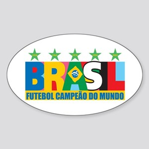 Brazilian World cup soccer Sticker (Oval)