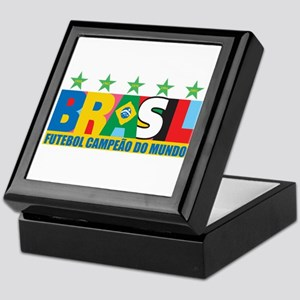 Brazilian World cup soccer Keepsake Box