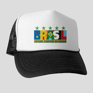 Brazilian World cup soccer Trucker Hat