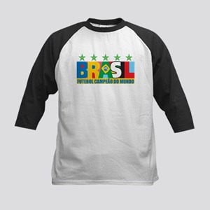 Brazilian World cup soccer Kids Baseball Jersey