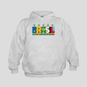Brazilian World cup soccer Kids Hoodie