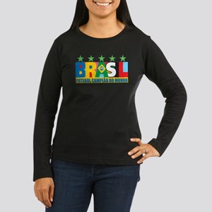 Brazilian World cup soccer Women's Long Sleeve Dar