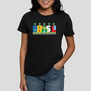 Brazilian World cup soccer Women's Dark T-Shirt