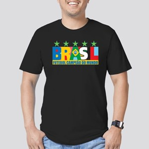 Brazilian World cup soccer Men's Fitted T-Shirt (d