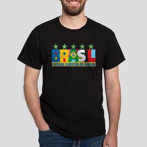 Brazilian World cup soccer Dark T-Shirt