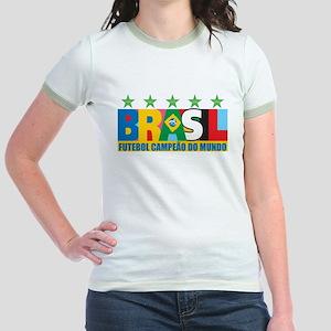 Brazilian World cup soccer Jr. Ringer T-Shirt