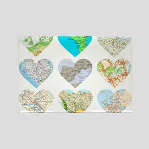 Heart Europe Rectangle Magnet
