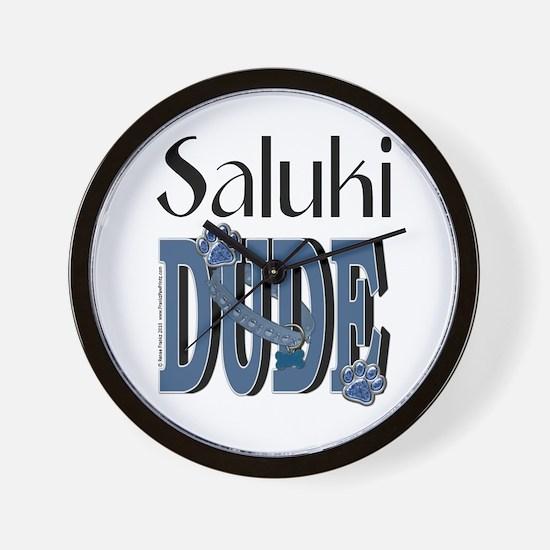 Saluki DUDE Wall Clock
