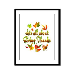 Thanksgiving Framed Panel Print