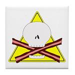 skull & baconbones tile coaster