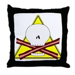 skull & baconbones throw pillow