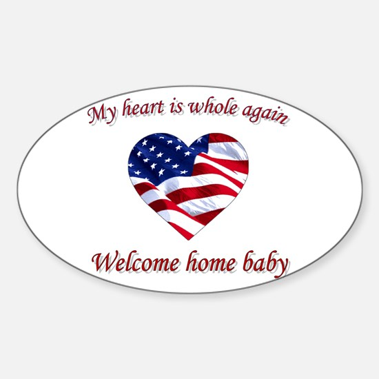 Cool Military homecoming Sticker (Oval)