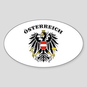 Osterreich Austria Sticker (Oval)