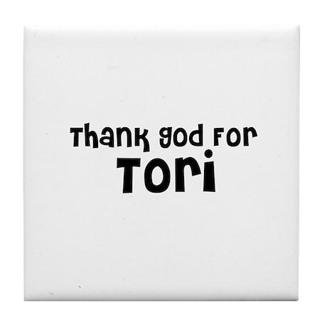 Thank God For Tori Tile Coaster