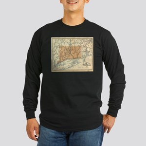 Vintage Connecticut Railroad M Long Sleeve T-Shirt