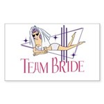 Beach Team Bride Sticker (Rectangle)