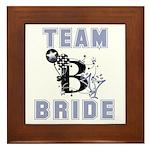 Celebrate Team Bride Framed Tile
