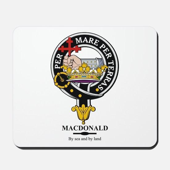 MacDonald Clan Badge Crest Mousepad