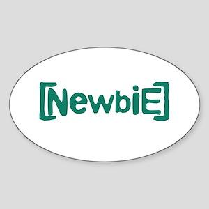 Newbie Sticker (Oval)
