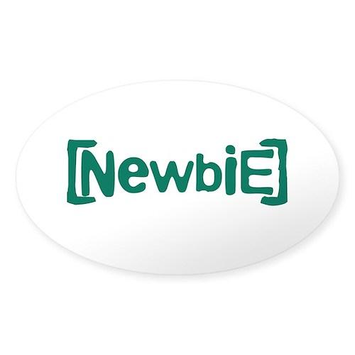 Newbie Sticker (Oval 50 pk)