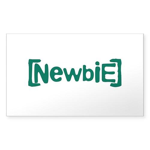 Newbie Sticker (Rectangle 50 pk)