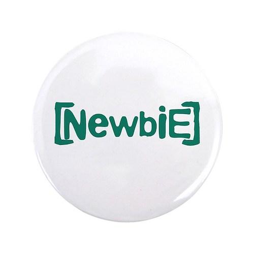"Newbie 3.5"" Button (100 pack)"
