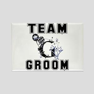Celebrate Team Groom Rectangle Magnet